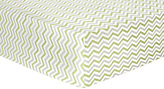 Trend Lab Sage & Gray Chevron Flannel Fitted Crib Sheet