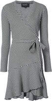 Nicole Miller geometric print wrap dress