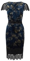 Dorothy Perkins Womens Paper Doll Navy Floral Print Lace Bodycon Dress