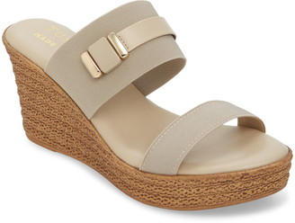 TUSCANY by Easy Street Esta Platform Wedge Slide Sandal