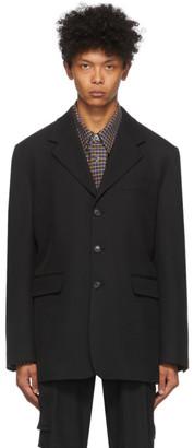 Solid Homme Black Wool Blazer