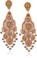 Miguel Ases Amethyst Quartz Chandelier Earrings