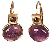 Sous le sable In the sand – Drop Earrings – Amethyst Brass – Flavour