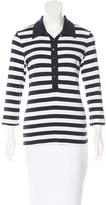 Tory Burch Striped Long Sleeve Top