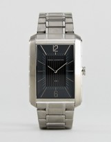 French Connection Watch With Rectangular Case Black Dial
