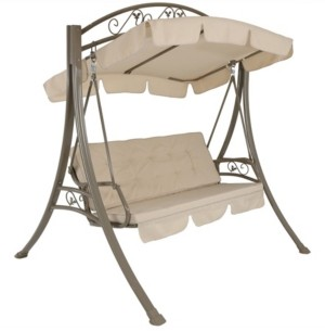 Sunnydaze Decor Deluxe 3-Person Outdoor Patio Porch Swing with Canopy
