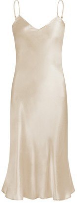 Moye Silk Satin Slip Dress - Sand