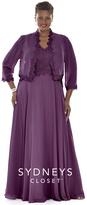 Sydney's Closet - SC4067 Plus Size Dress in Purple