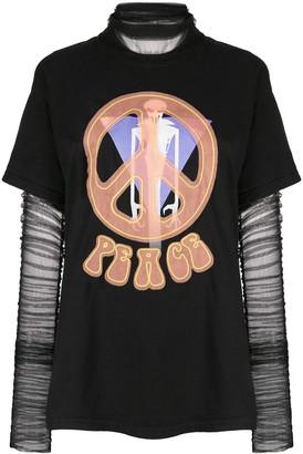 Viktor & Rolf layer Peace Rave T-shirt