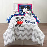 Disney Collection Mickey Mouse Chevron Twin/Full Comforter Set
