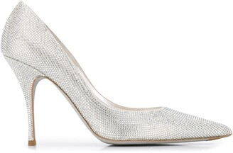 Rene Caovilla Embellished Stiletto Pumps