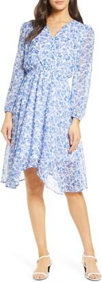 Fraiche by J Kami Floral Long Sleeve Dress