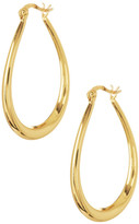Argentovivo 18K Gold Plated Sterling Silver 35mm Oval Hoop Earrings