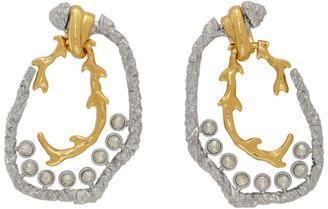 Chloé Gold and Silver Daria Hoop Earrings