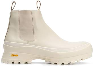 Jil Sander Vibram sole chunky Chelsea boots