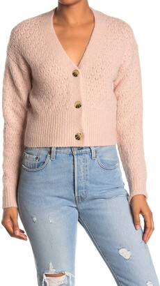 Elodie K Pointelle Crop Cardigan