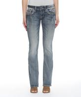 Vigoss Medium Wash Faux Flap-Pocket Dallas Bootcut Jeans