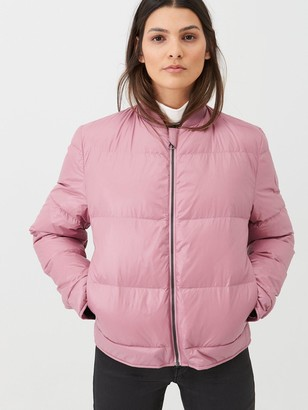 BOSS Casual Padded Bomber Jacket - Dusky Pink