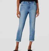 LOFT Skinny Crop Jeans in Light Enzyme Wash