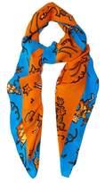 Loewe X Paula's Ibiza clown-print scarf