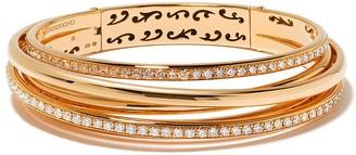 de Grisogono 18kt Rose Gold Coil Diamond Bracelet