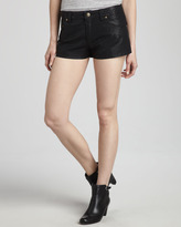 Free People Faux-Leather Shorts