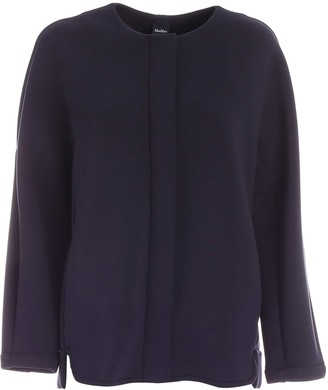 Max Mara Crewneck Cropped Coat