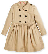 Burberry Lillyana Double-Breasted Coat, Yellow, Size 4