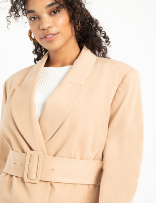 ELOQUII Double Breasted Blazer with Belt