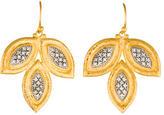 Gurhan Bi-Color Diamond Leaf Drop Earrings