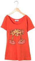 Moschino Girls' Embellished Giraffe Print Top