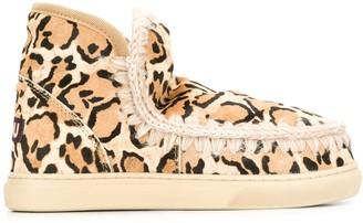 Mou Leopard Print Eskimo Boots