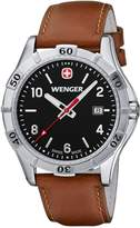 Wenger Platoon Men's Quartz Watch with Dial Analogue Display and Silver Stainless Steel Bracelet 10941102