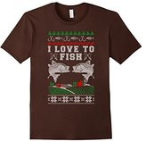 Men's I Love to Fish Official Ugly Christmas Sweater Small