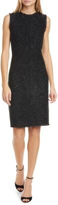 Kate Spade New York Tinsel Tweed Sleeveless Wool Blend Sheath Dress