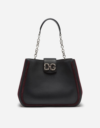 Dolce & Gabbana Large Amore Bag In Mixed Materials