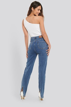 NA-KD Slit Back Denim