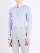 BOSS Micro-weave slim-fit cotton shirt