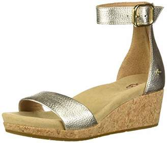UGG Women's Zoe II Metallic Wedge Sandal