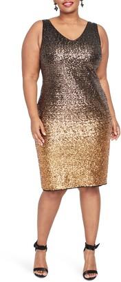 Rachel Roy Karine Sequin Sheath Dress