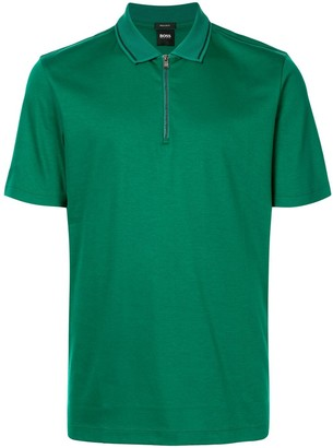 HUGO BOSS Front-Zip Polo Shirt