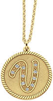 JCPenney FINE JEWELRY Personalized 14K Gold Over Silver Initial Pendant Necklace