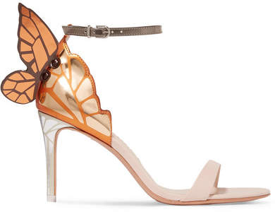 Sophia Webster Chiara Metallic Leather Sandals - Gold