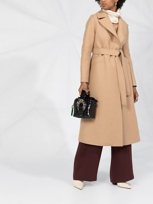 Harris Wharf London Tie-Waist Wool Trench Coat