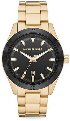 Michael Kors Layton Goldtone Stainless Steel Bracelet Watch