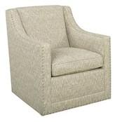 Lexington Barrier Swivel Armchair Upholstery Material: Brown Polyester Blend
