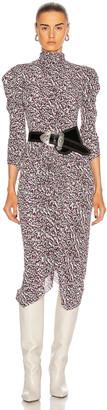 Isabel Marant Tizya Dress in Black & Pink | FWRD