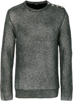 Balmain metallic ribbed sweater