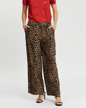 Scotch & Soda Printed Wide Leg Pants