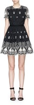 Alice + Olivia 'Nigel' floral guipure lace party dress